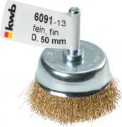 KWB Topfbürste für Bohrmaschinen Messingdraht fein Ø 0,2 mm gewellt Ø 50 mm lose