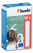 KWB Wandtafelkreide, Straßenmalkreide weiß (10Stück)
