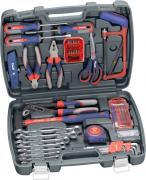 KWB Werkzeugkoffer Grundausstattung 65-teilig in praktischem Kunststoffkoffer
