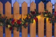 LED Girlande rot dekoriert mit 80 Leuchten 500cm Außenbereich Lichterkette