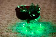 LED Lichterkette 20 Leuchten grüne Tannen 100cm Batterie Innenraum