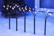 LED Sternenleuchtstäbe 5x6 Leuchten warmweiß Lichterkette