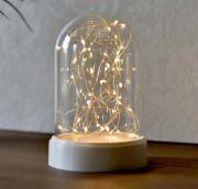 LED Tischlicht Weihnachten 10 Leuchten Kuppel Batterie warmweiß Innenraum