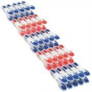 Leifheit Wäscheklammern-Set 25 Stück in rot und blau
