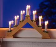 Lichterbogen mit 7 Leuchten und Schalter natur 40x30cm Innenraum