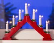 Lichterbogen mit 7 Leuchten und Schalter rot 40x30cm Innenraum