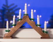 Lichterbogen mit 7 Leuchten und Schalter braun 40x30cm Innenraum