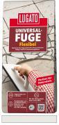 Lugato Universal-Fuge Flexibel Fugenmörtel 2-30 mm Innen & Außen Silbergrau 5 kg