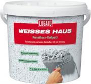 Lugato Weisses Haus Kunstharz-Rollputz Latexputz Innen & Außen 0,5 mm 8 kg
