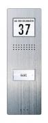 m-e VISTADOOR Audio-Türsprechanlage Außenstation ADV 210 Edelstahl-Frontplatte
