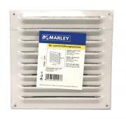 Marley Alublechgitter Lüftungsgitter 165x165 mm weiß inkl. Dübel und Schrauben