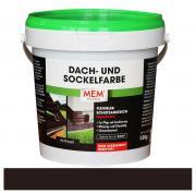 MEM Dach- und Sockelfarbe flexibler Schutzanstrich für Zement- und Tonziegel / Haussockel anthrazit 1 kg