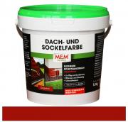 MEM Dach- und Sockelfarbe flexibler Schutzanstrich für Zement- und Tonziegel / Haussockel ziegelrot 1 kg