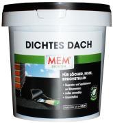 MEM Dichtes Dach Reparatur- und Spachtelmasse auf Bitumenbasis für Löcher, Risse, Bruchstellen 1 kg