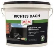 MEM Dichtes Dach Reparatur- und Spachtelmasse auf Bitumenbasis für Löcher, Risse, Bruchstellen 5 kg