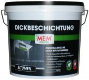 MEM Dickbeschichtung hochelastische Bitumen-Latex-Dickbeschichtung Kellerabdichtung bis 7 mm lösemittelfrei 12 L