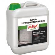 MEM Super-Tiefenimprägnierung Fassaden-Stein-Abdichtung Wassersperre lösemittelfrei 5 L