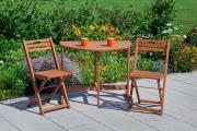 Merxx 3-teilig Porto Set Gartenmöbel Set 2 Klappsessel 1 Klappentisch Klapptisch FSC Eukalyptus
