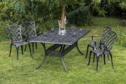 Merxx 5-teilig Rohodos Set 4 Rhodos Sessel mit Armlehne 1 Tisch 180 x 105 cm
