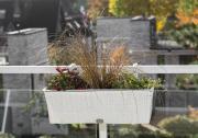 Merxx Blumenkasten 60 x 19 x 19 cm, Stahl mit Kunststoffgeflecht weiß