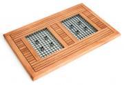 Merxx Fußrost, verzinkt, eckig, 88 x 57 x 2,5 cm, Eukalyptusholz (Abtreter, Schmutzfang)
