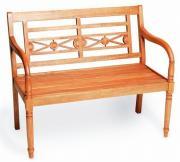 Merxx Gartenbank Havanna 2-Sitzer, 90 x 107 x 60 cm, Eukalyptusholz geölt