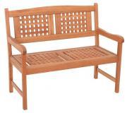 Merxx Gartenbank Lima 2-Sitzer, 90 x 108 x 58 cm, Eukalyptusholz geölt