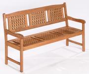 Merxx Gartenbank Lima 3-Sitzer, Eukalyptusholz geölt