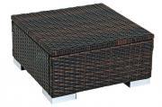 Merxx Gartenliege Hocker/Beistelltisch für Merxx Einzelmultiliege, 50 x 50 cm, braun