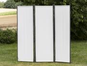 Merxx Paravent Raumteiler 183 x 183 cm, verlängerbar, Stahl Sichtschutz mit Textilbespannung beige