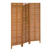 Merxx Paravent Raumteiler Holz 150 x 170 cm, Sichtschutz aus Eukalyptus
