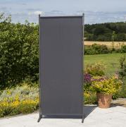 Merxx Sichtschutz Textil schmal, 82 x 190 cm, 1 Segment, Stahl mit Textilbespannung grau