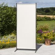 Merxx Sichtschutz Textil schmal, 82 x 190 cm, 1 Segment, Stahl mit Textilbespannung beige