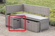 Merxx Unterschiebbox klein Gartenbox für Eckbank grau