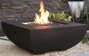 Modeno Gasfeuerstelle Itasy, Beton-Optik schwarz, aus Faserbeton