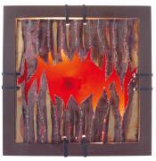 näve Dekoartikel-Bild Aura braun, bunt, rot 1x E14 max.40W