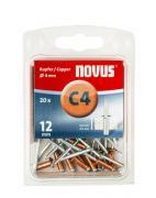 Novus Kupfer-Blindniete 4/12 20 Stück