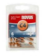 Novus Kupfer-Blindniete 4/6 20 Stück