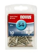 Novus Stahl-Blindniete 4/10 20 Stück
