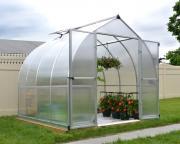 Palram Gewächshaus Greenhouse Bella 8 x 8 silber 244 x 244 x 219 cm (5,95 m²)