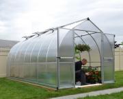 Palram Gewächshaus Greenhouse Bella 8 x 16 silber 482 x 244 x 219 cm (11,76 m²)