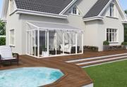 Palram Sanremo Wintergarten 3 x 4.25 weiß 430 x 298 x 285 - 310 cm