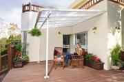 Palram Terassendach FERIA 3X3 weiß klar 305 x 298 x 260-305 cm