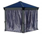 Palram Vorhang Sichtschutz für Pavillon Roma und Monaco Polyester grau wasserdicht UV-beständig