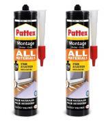 Pattex Montage Kleber All Materials Montagekleber 2x450g Kartusche weiß
