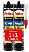 Pattex Montage Kleber Power 2 x 370g Kartusche AKTION 1+1 GRATIS