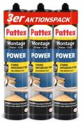 Pattex Montage Kleber Power 3 x 370g Kartusche AKTION 3er Aktionspack