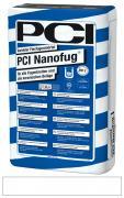 PCI Nanofug Variabler Flexfugenmörtel insbesondere für Steingut- und Steinzeugbeläge weiß 15 kg