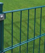 Peddy Shield Gartenzaun Zaun Doppelstabmattenset ohne Pfosten, grün (RAL6005) 3 Stück, Höhe 123cm