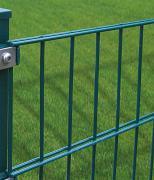 Peddy Shield Gartenzaun Zaun Doppelstabmattenset ohne Pfosten, grün (RAL6005) 10 Stück, Höhe 123cm